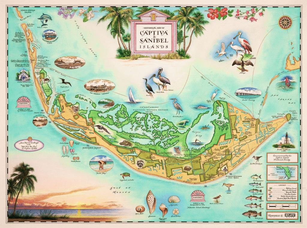 Captiva And Sanibel Islands - Wooden Jigsaw Puzzle - Liberty Puzzles - Street Map Of Sanibel Island Florida