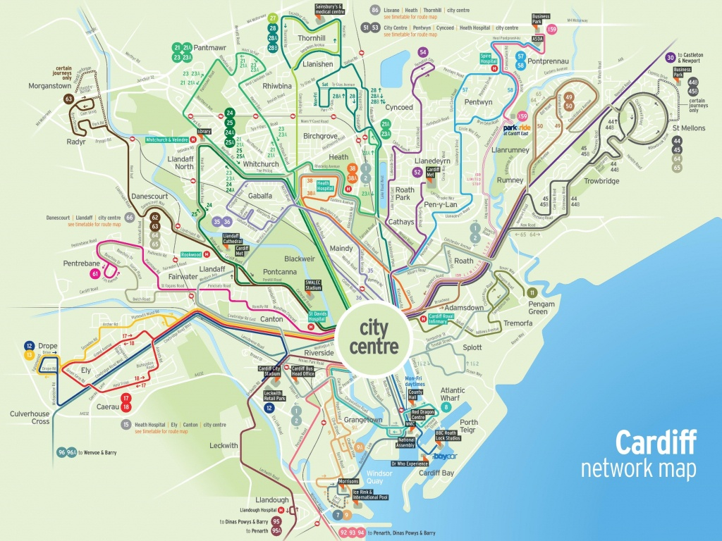 Cardiff Transport Map - Printable Map Of Cardiff