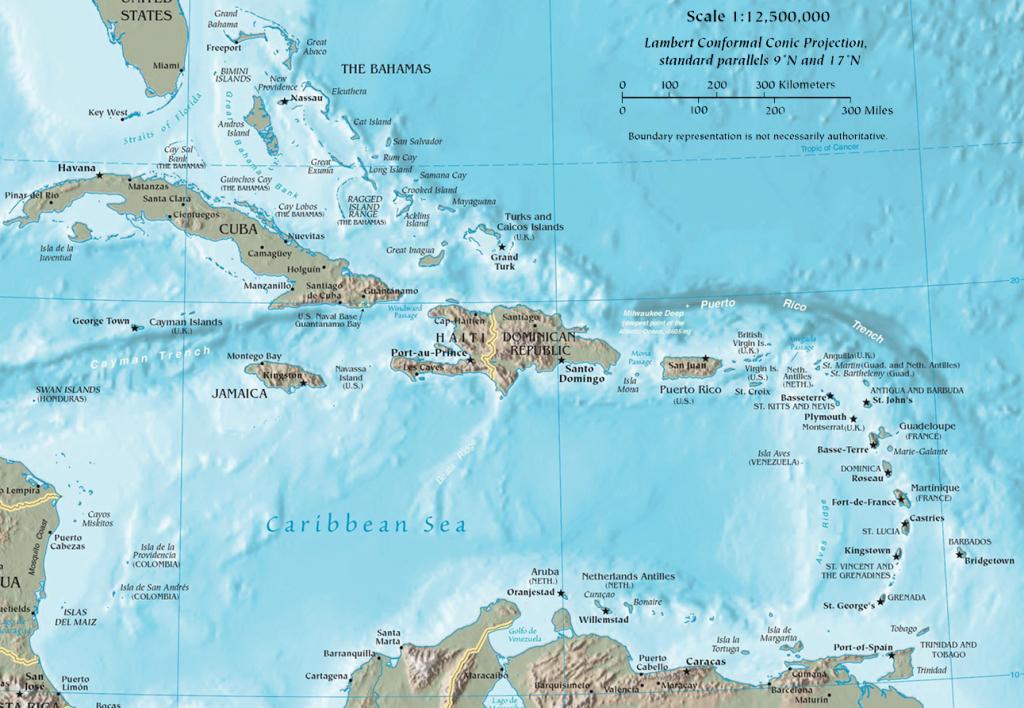 Caribbean - Wikipedia - Map Of Florida And Caribbean