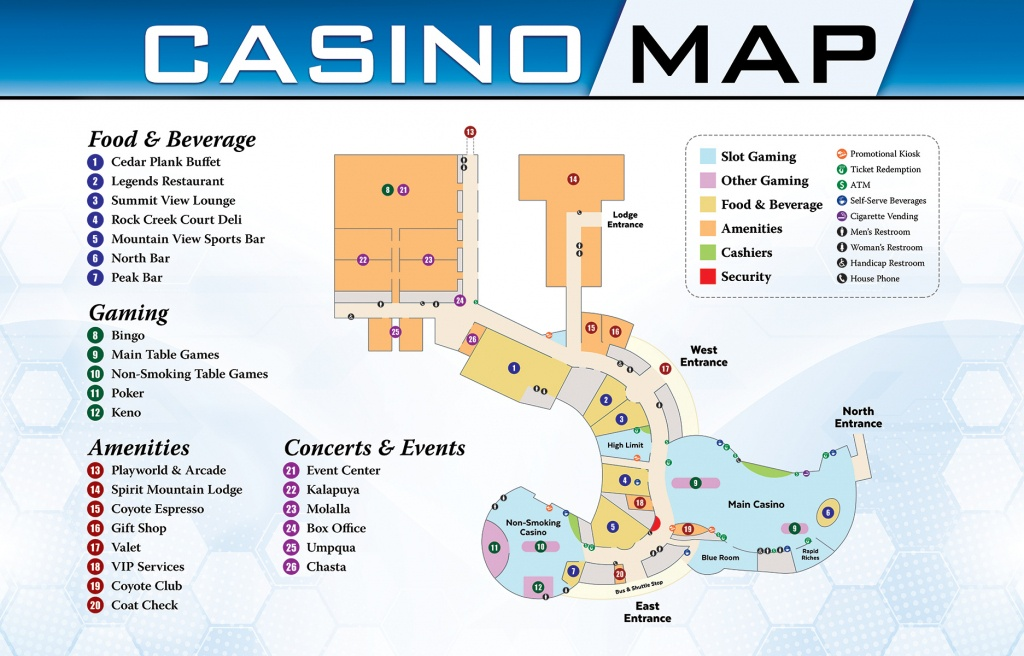 Casino & Gaming | Spirit Mountain Casino - Casinos In Texas Map