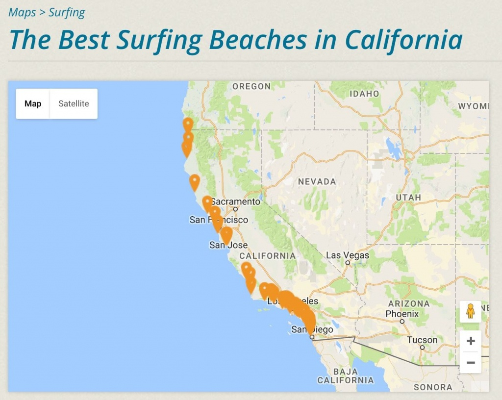 Cassurf | The Best Surfing Beaches In California | #cassurf Tees + - California Surf Map