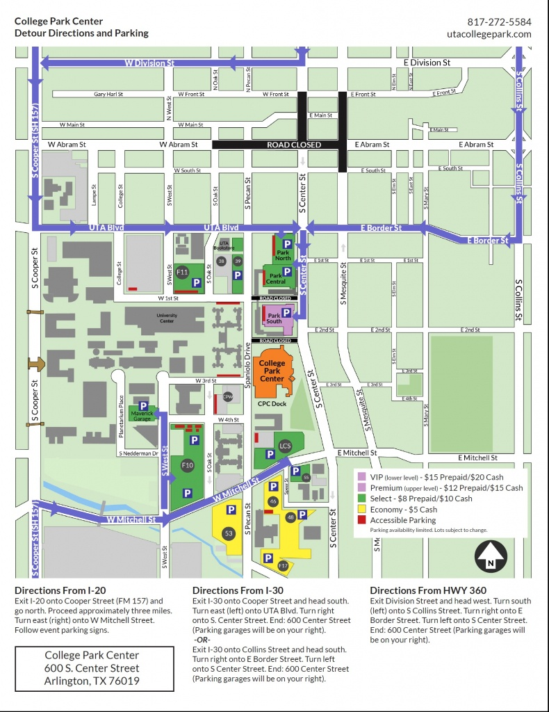 Casting Crowns Parking Map, Directions And Road Closures – College - Texas Map Directions