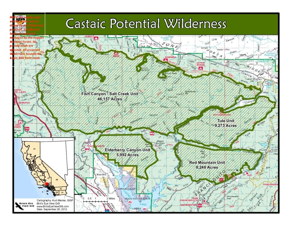 Catching Up On The Proposed Castaic Wilderness – California - California Wilderness Map