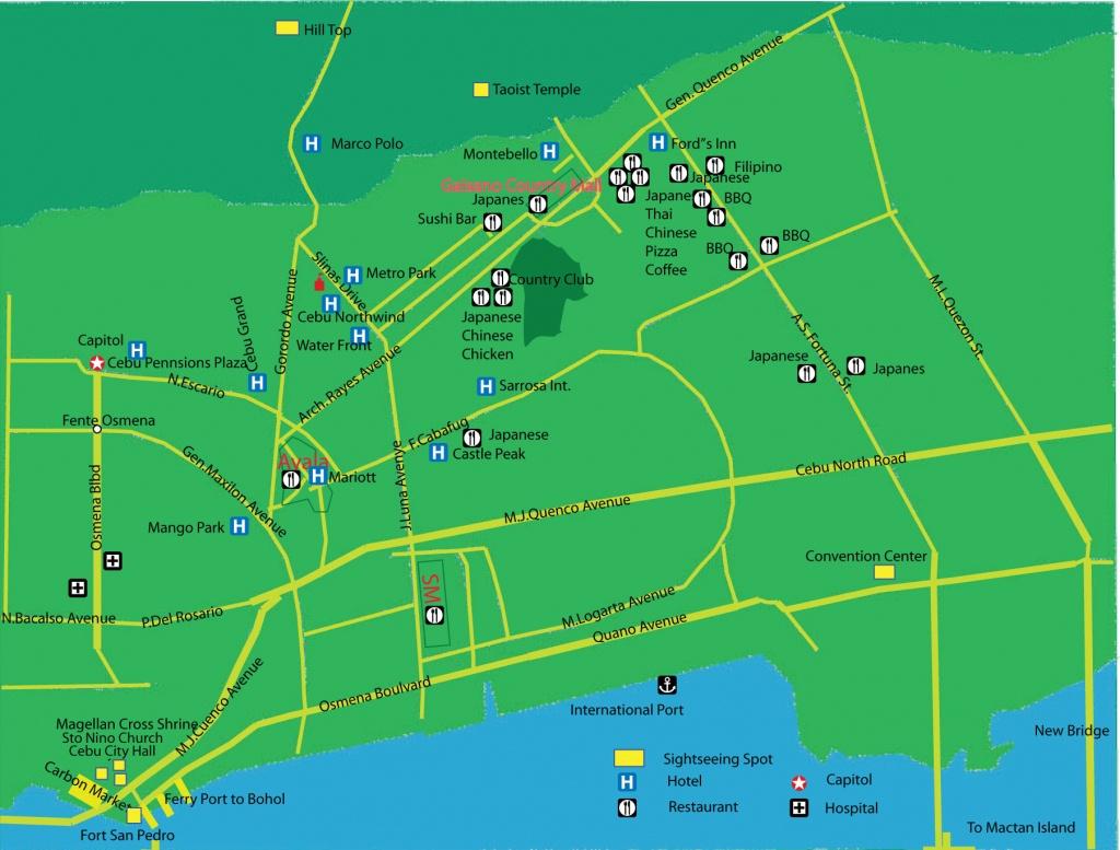 Cebu City Map   Quality Map - Cebu City Map Printable