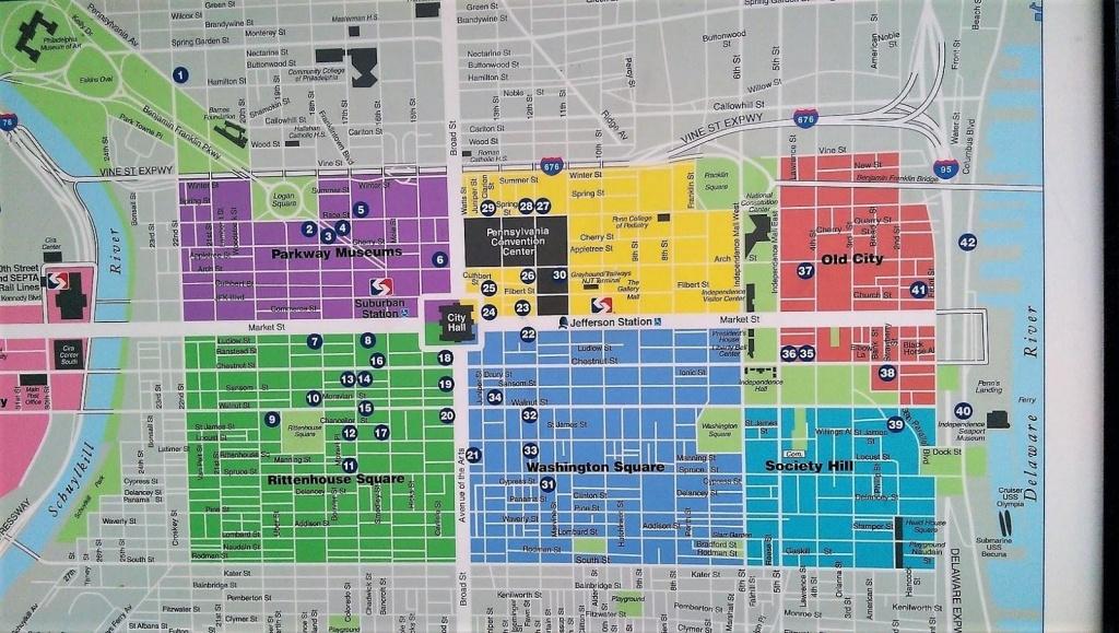 Center City Philadelphia Map - Map Of Center City Philadelphia - Printable Map Of Center City Philadelphia