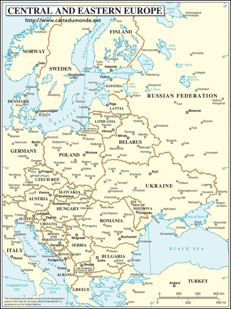 Central And Eastern Europe Map, World Map - Printable Map Of Eastern Europe