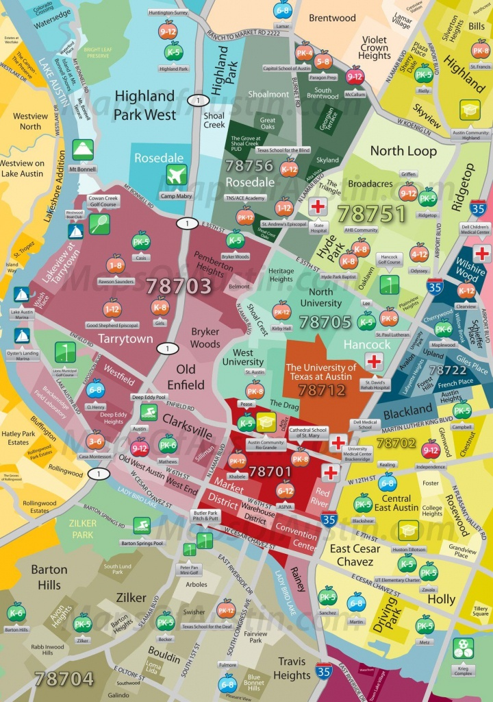 Central Austin | Maps Of Austin – Neighborhood Maps Of Austin, Texas - Austin Texas City Map