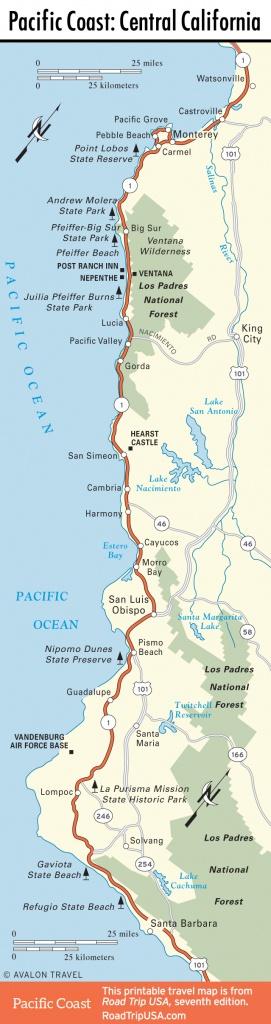 Central California | Road Trip Usa - Central California Road Map