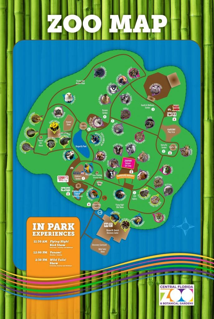 Central Florida Zoo & Botanical Gardens Map Of The Zoo - Central - Central Florida Zoo Map