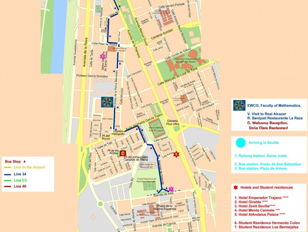 Central Seville Tourist Map - Seville • Mappery - Printable Tourist Map Of Seville