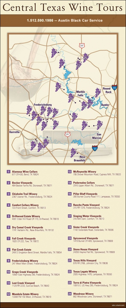 Central Texas Wine Trail … | Wine | Texas… - Fredericksburg Texas Winery Map