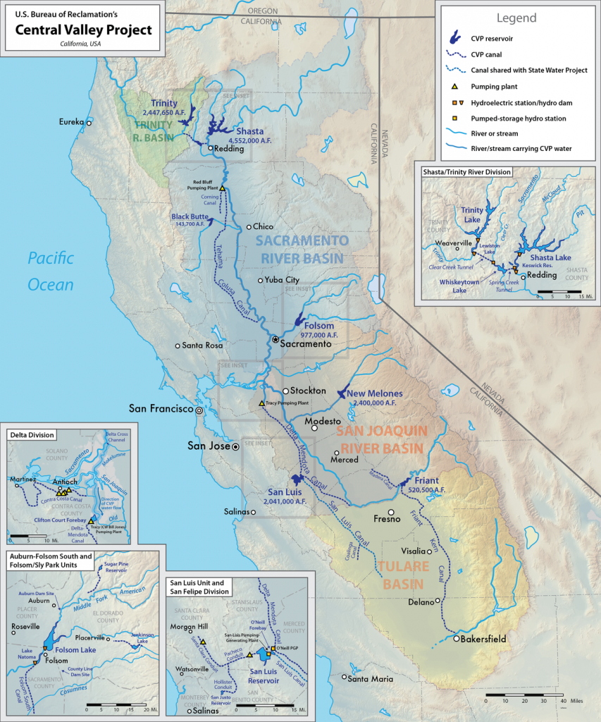 Central Valley Project - Wikipedia - California Water Map