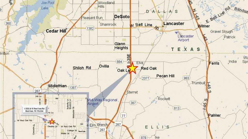 Century Way & I-35E, Red Oak, Tx 75154 - Land For Sale - 17.85 Acre - Red Oak Texas Map