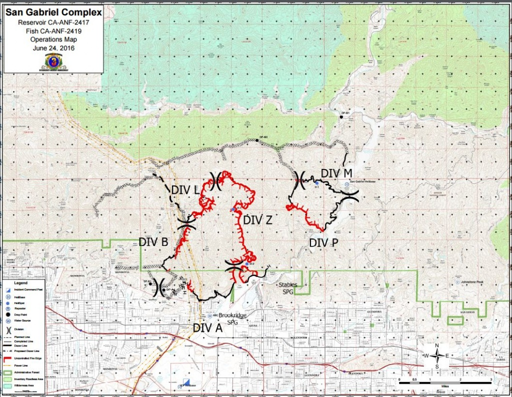 Cfn - California Fire News - Cal Fire News : Ca-Anf San Gabriel - Spg California Map