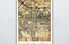 Champaign Urbana Map Print Poster Street Map Illini | Etsy   Printable Map Of Champaign Il
