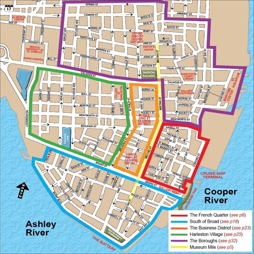 Charleston Honeymoon Itinerary | Travel | Visit Charleston Sc - Printable Map Of Charleston Sc Historic District
