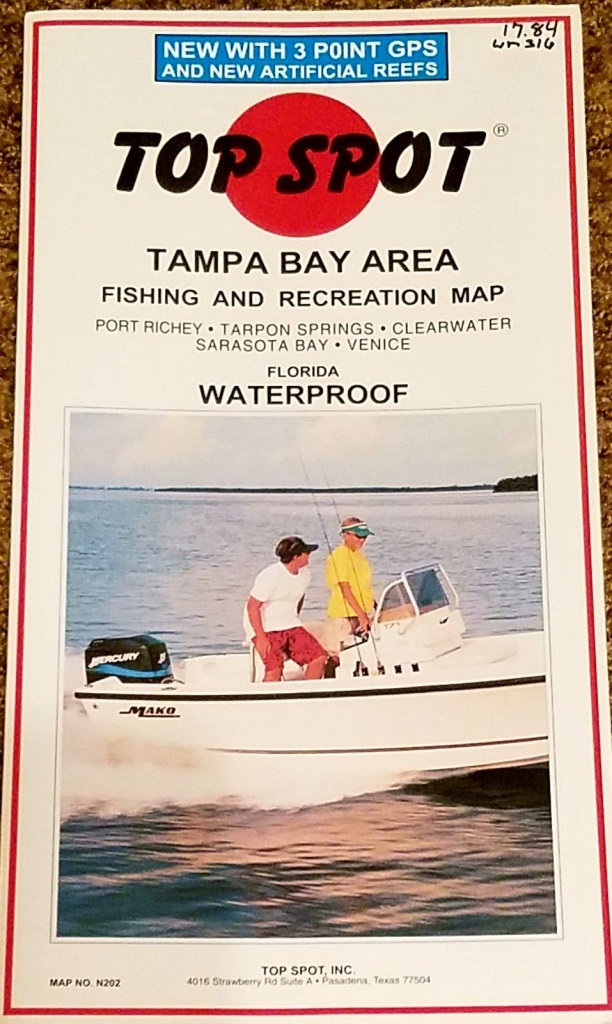 Charts And Maps 179987: Top Spot Map N202 Tampa Bay Area Fishing And - Top Spot Fishing Maps Florida