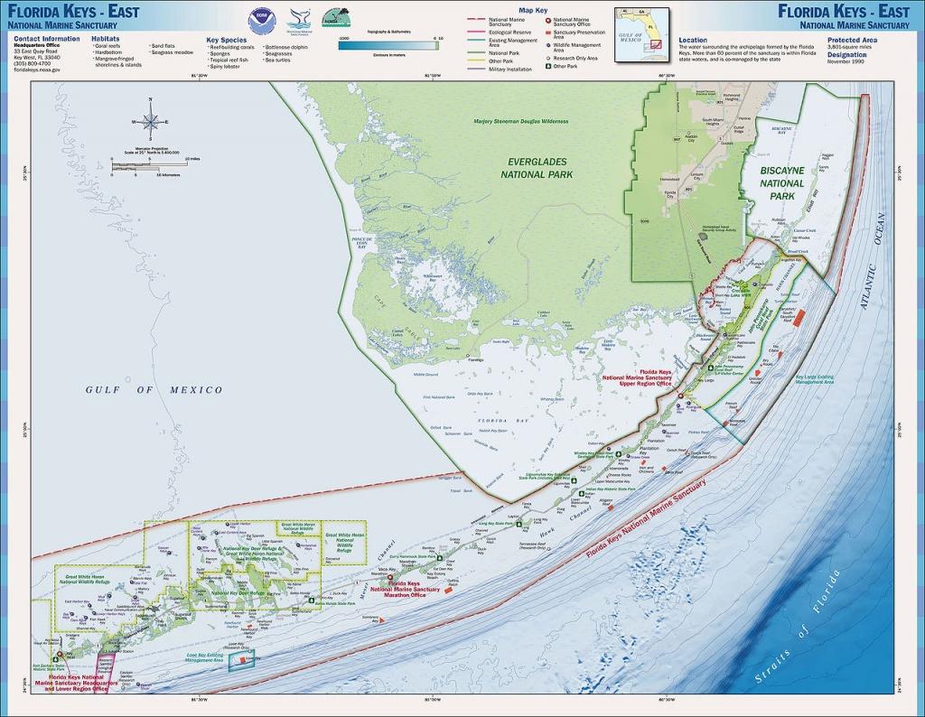 Charts And Maps Florida Keys - Florida Go Fishing - Florida Keys Spearfishing Map