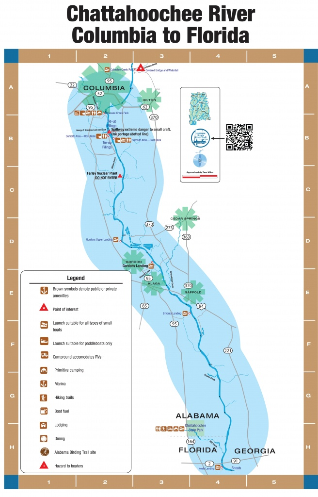 Chattahoochee River—4. Columbia To The Florida, Alabama And Georgia - Map Of Alabama And Florida