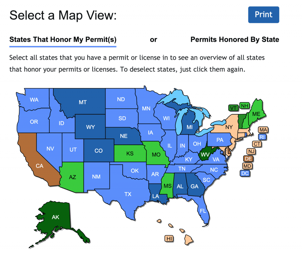 Check Out The New Concealed Carry Maps - Usa Carry - Florida Ccw Map