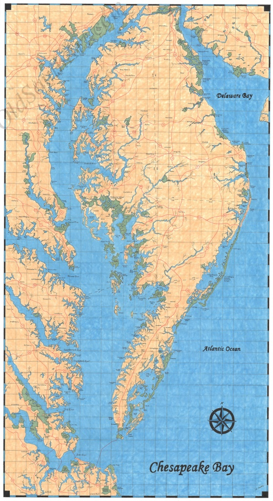 Chesapeake Bay Map - Printable Map Of Chesapeake Bay