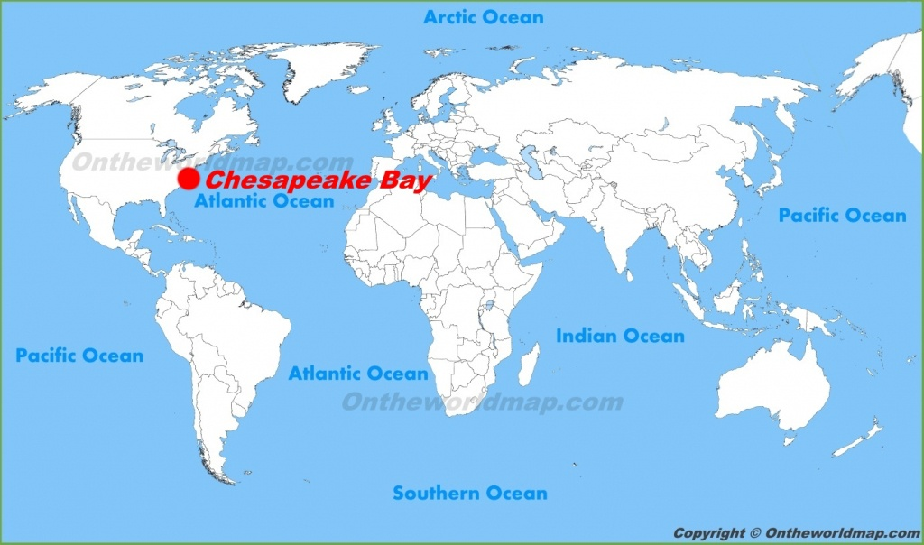 Chesapeake Bay Maps | Maps Of Chesapeake Bay - Printable Map Of Chesapeake Bay