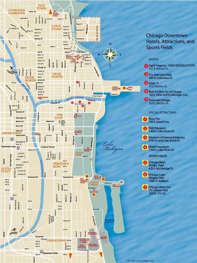 Chicago Downtown Map - Printable Street Map Of Downtown Chicago