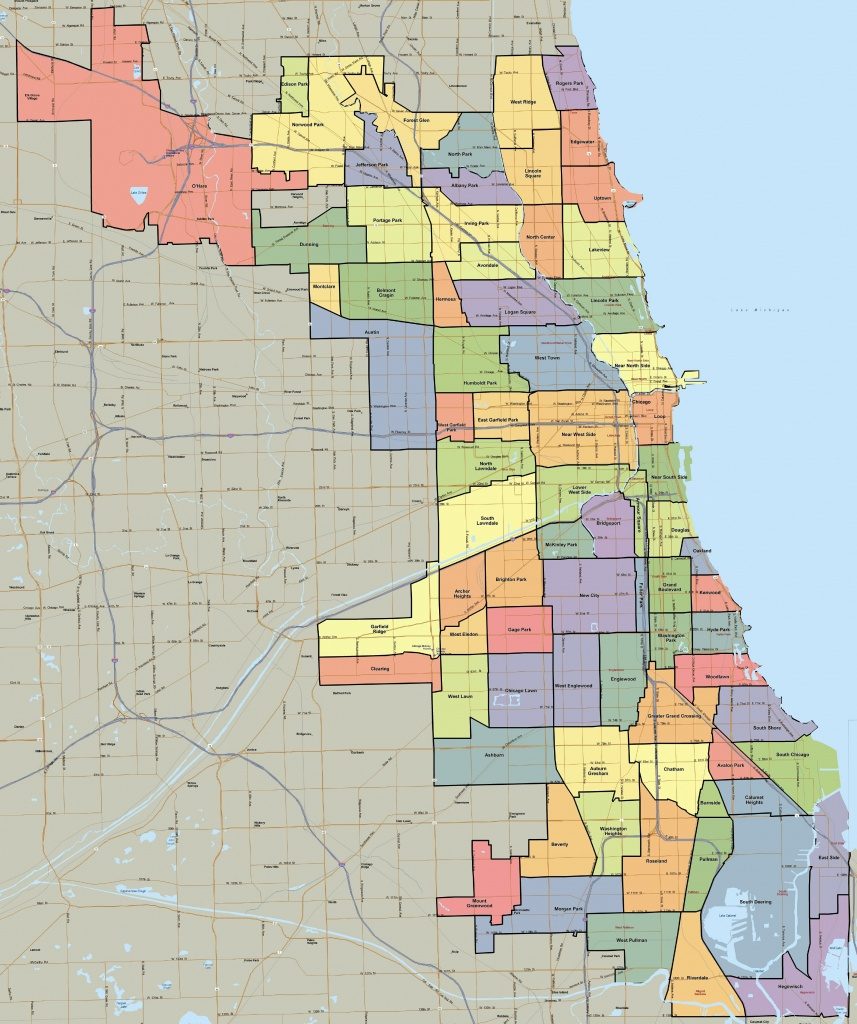 Chicago Neighborhood Map | Mortgage Essentials | Chicago - Printable Map Of Chicago Suburbs