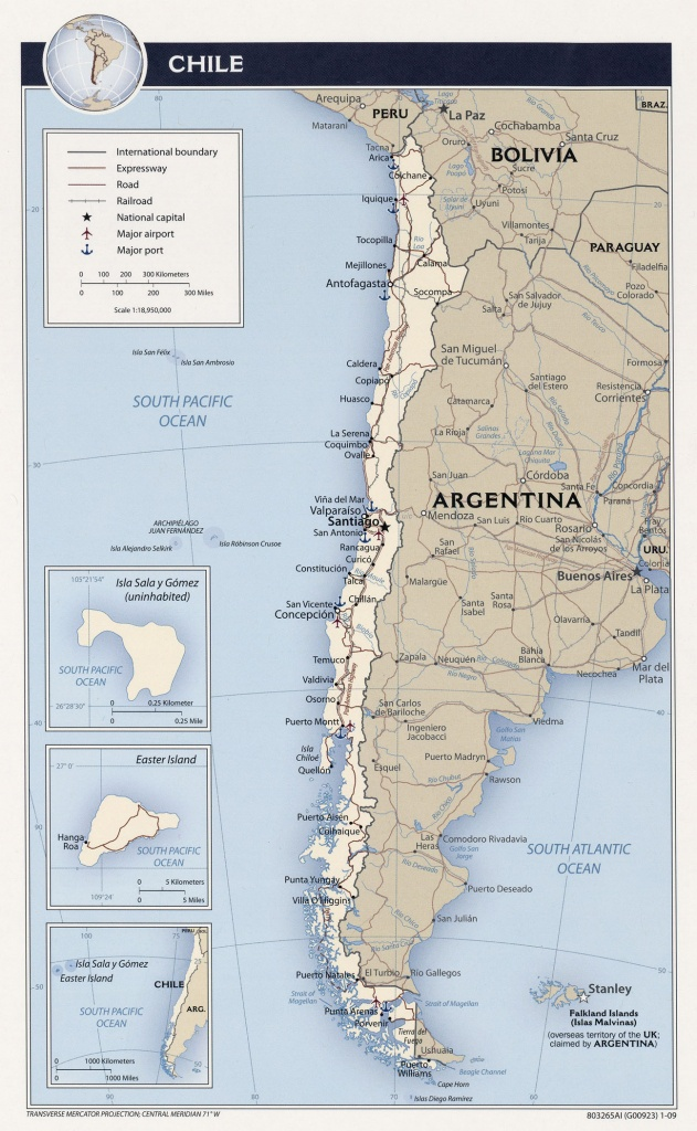 Chile Maps - Perry-Castañeda Map Collection - Ut Library Online - Free Printable Map Of Chile