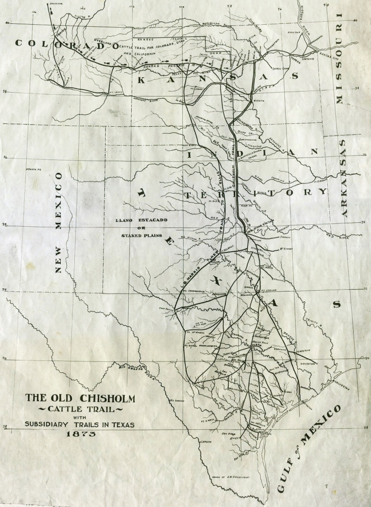 Chisholm Trail - Wikipedia - Texas Trails Maps