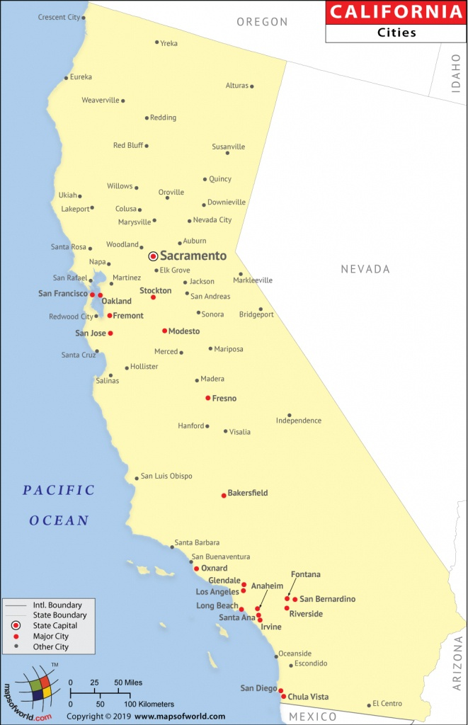 Cities In California, California Cities Map - Where Is Sacramento California On A Map