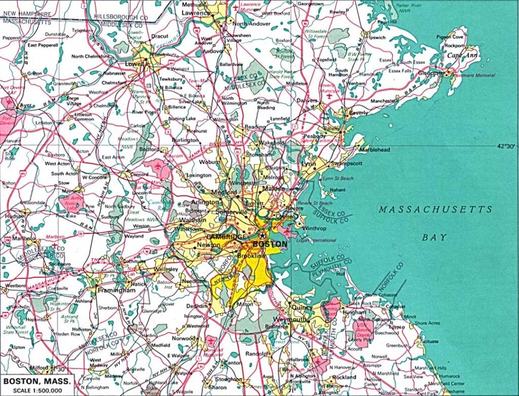 Cities-Printable-Large-Map Of Boston-Massachusetts - Boston City Map Printable
