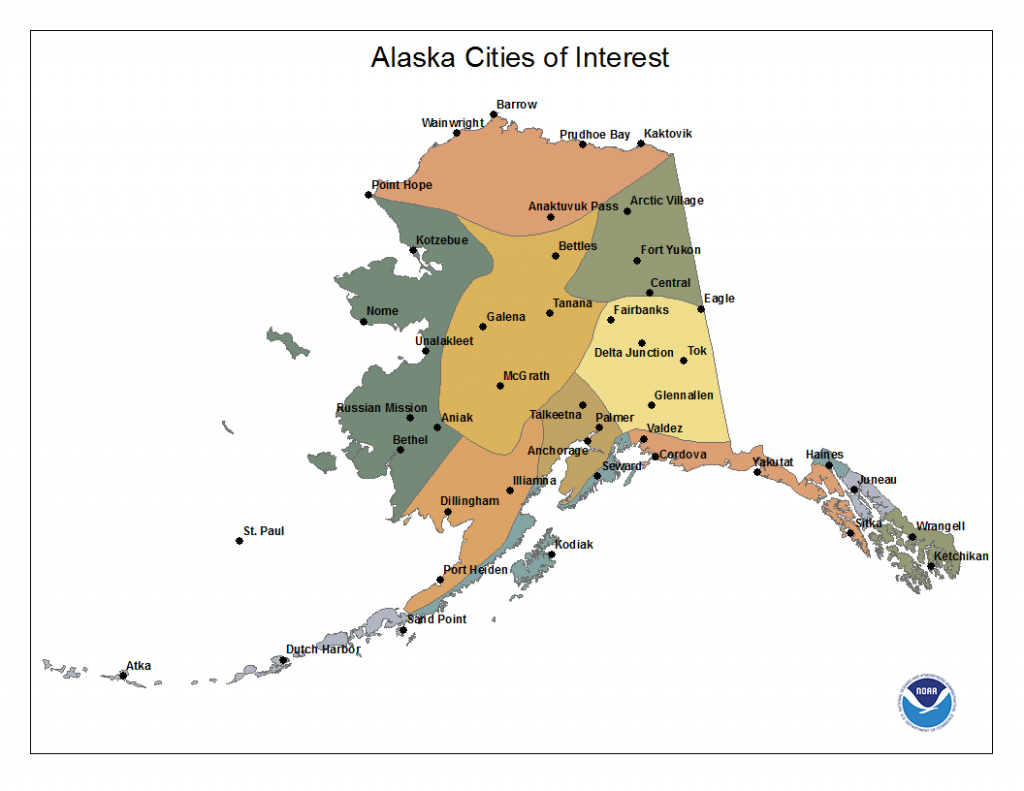 City Map Of Alaska And Travel Information | Download Free City Map - Printable Map Of Alaska With Cities And Towns
