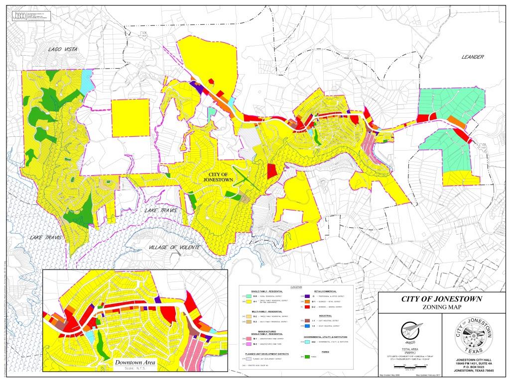 City Maps - City Of Jonestown, Texas - South Texas Cities Map