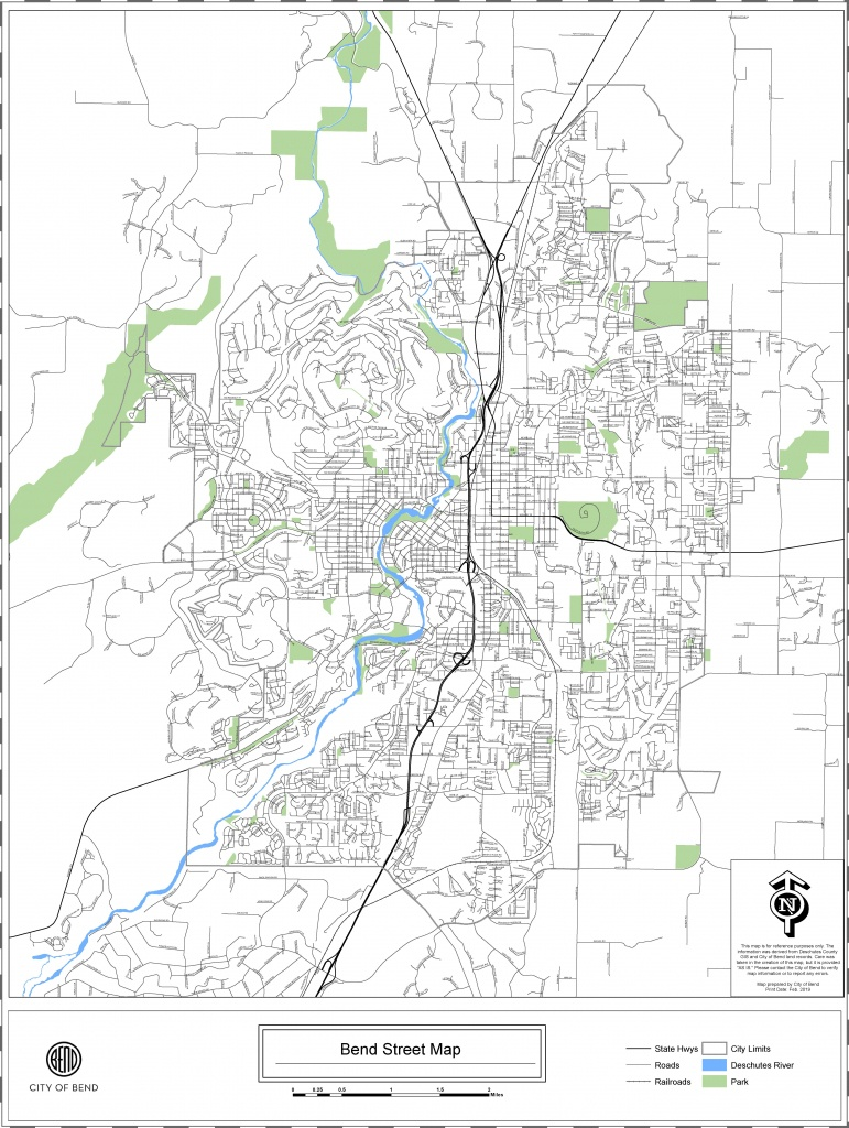 City Maps - Economic Development For Central Oregon - Printable Map Of Bend Or