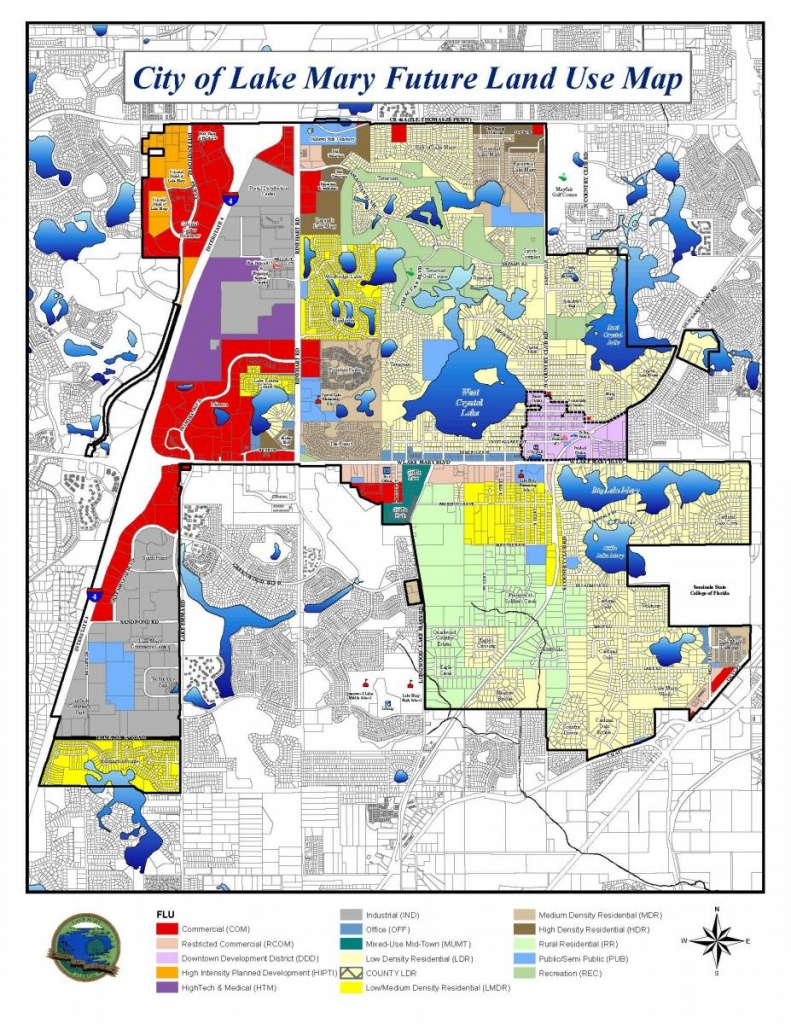 City Of Lake Mary Future Land Use Map | Lake Mary, Fl - Map Of Lake Mary Florida And Surrounding Areas