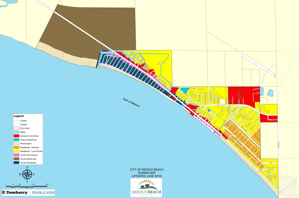 City-Of-Mexico-Beach-Zoning-Map | 98 Real Estate Group - Mexico Florida Map