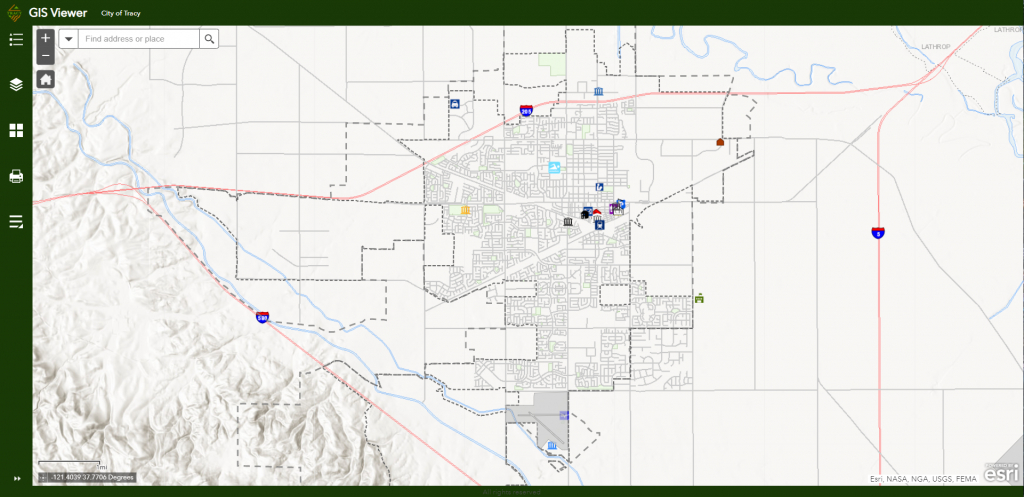 City Of Tracy : About Us : City Maps : Gis Web Mapping Application - Tracy California Map