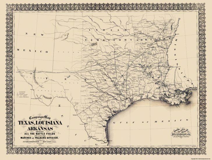 Civil War In Texas Map
