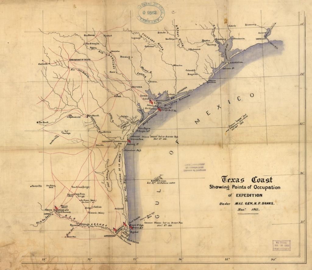 Civil War | The Handbook Of Texas Online| Texas State Historical - Civil War In Texas Map