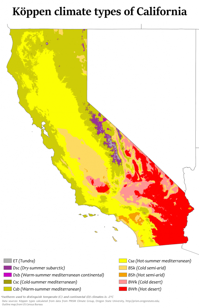 Climate Of California - Wikipedia - Heat Map Southern California