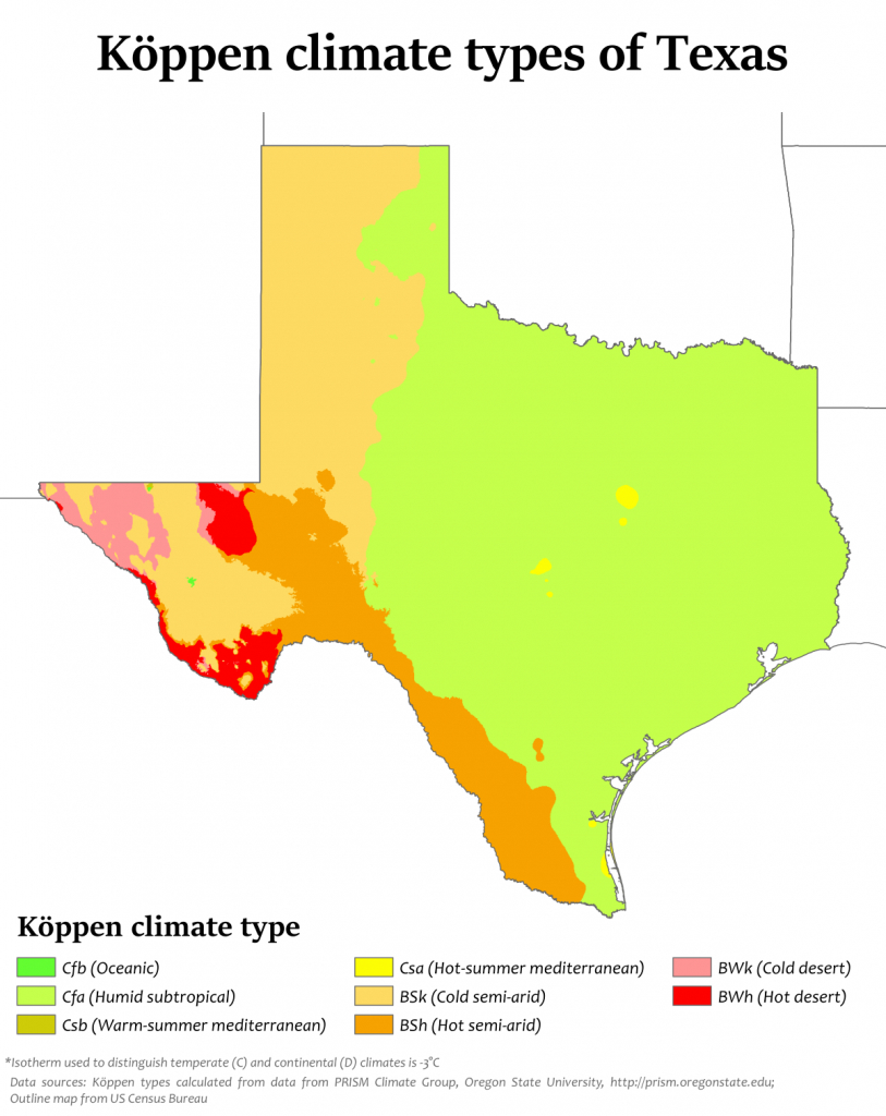 Climate Of Texas - Wikipedia - Waco Texas Weather Map