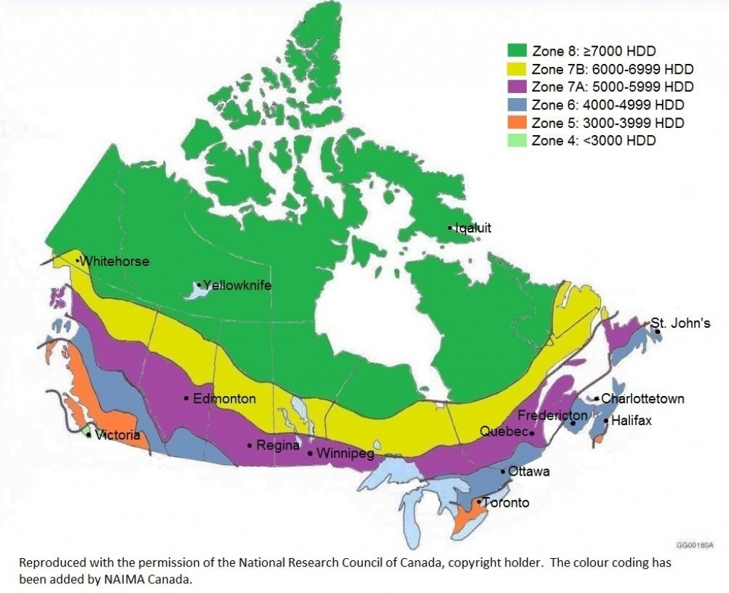 Climate Zone Map Of Canada | Building Code | Coding Standards - Florida Building Code Climate Zone Map