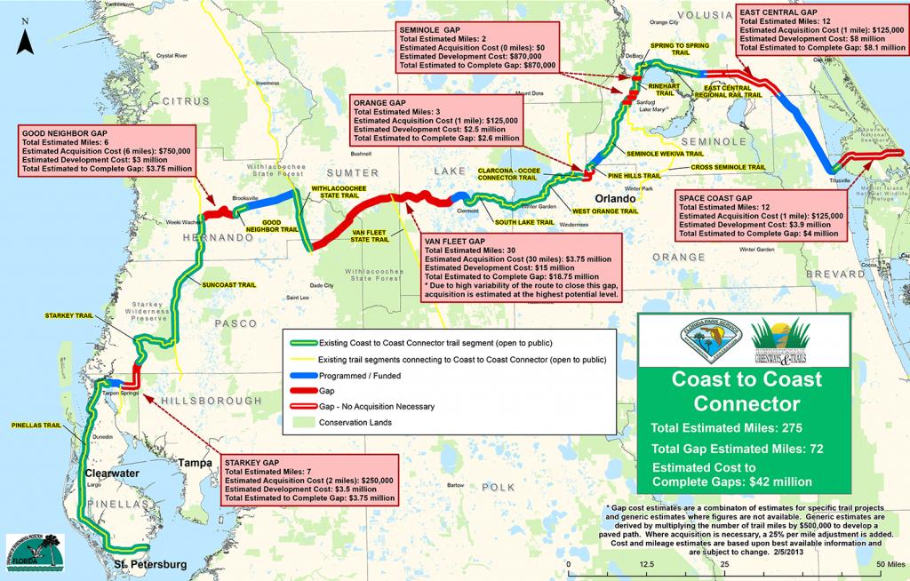 Coast To Coast Connector     Commute Orlando - Central Florida Bike Trails Map