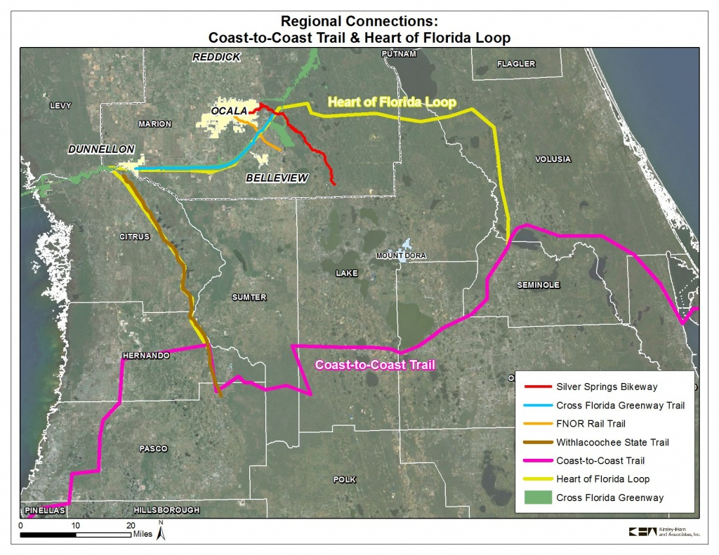 Coast To Coast Trail And Heart Of Florida Loop | 2035 Bicycle And - Florida Bicycle Trails Map