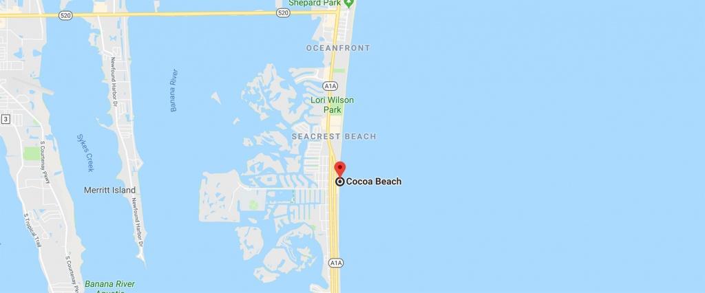 Cocoa Beach, Fl   The Buy Guys - Coco Beach Florida Map