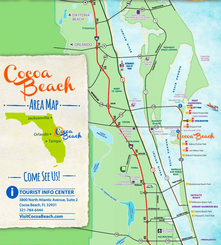 Cocoa Beach Tourist Map - Where Is Cocoa Beach Florida On The Map