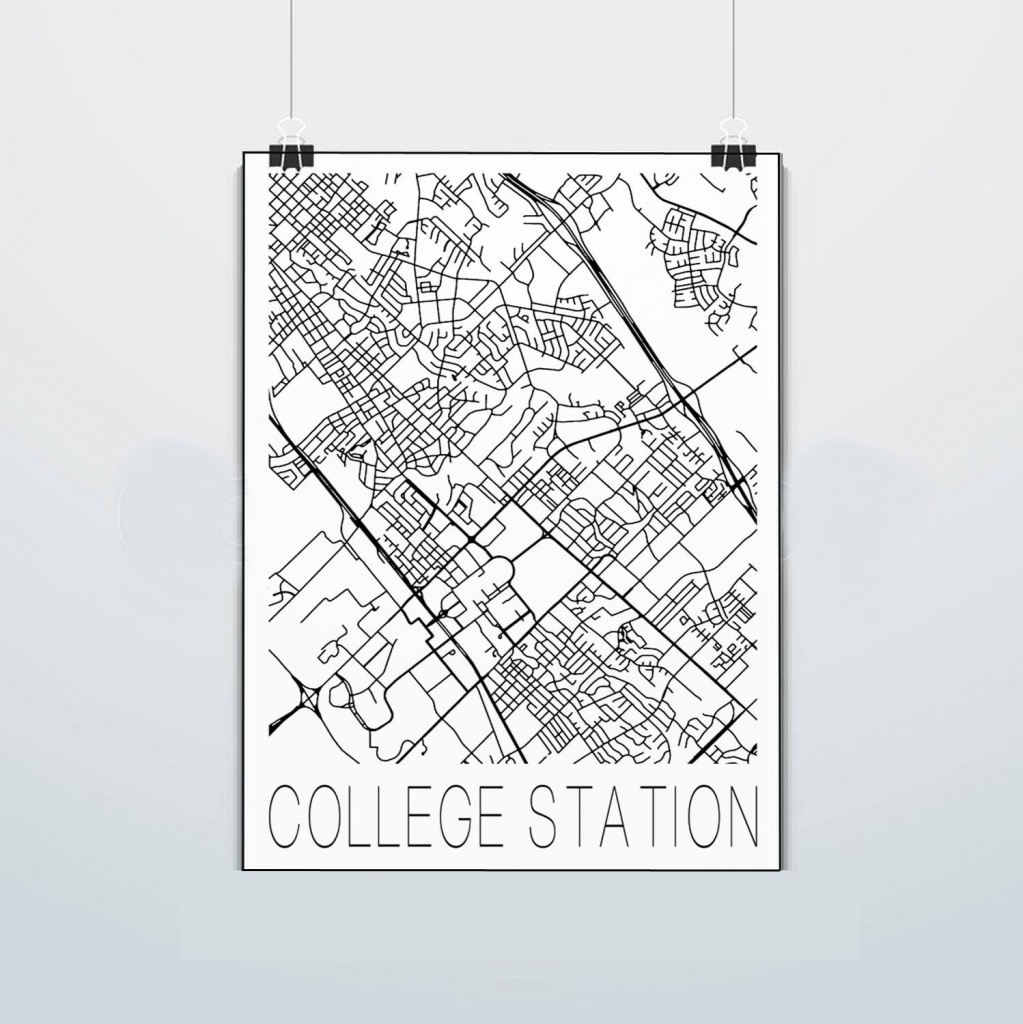 College Station Texas Map Aggies P Texas A&m Print | Etsy - College Station Texas Map