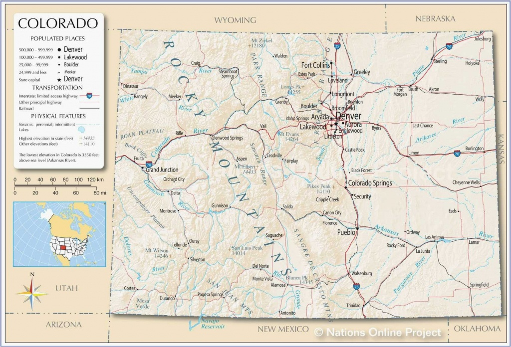 Colorado County Map With Towns Printable Map Of Us With Major Cities - Printable Map Of Colorado Cities