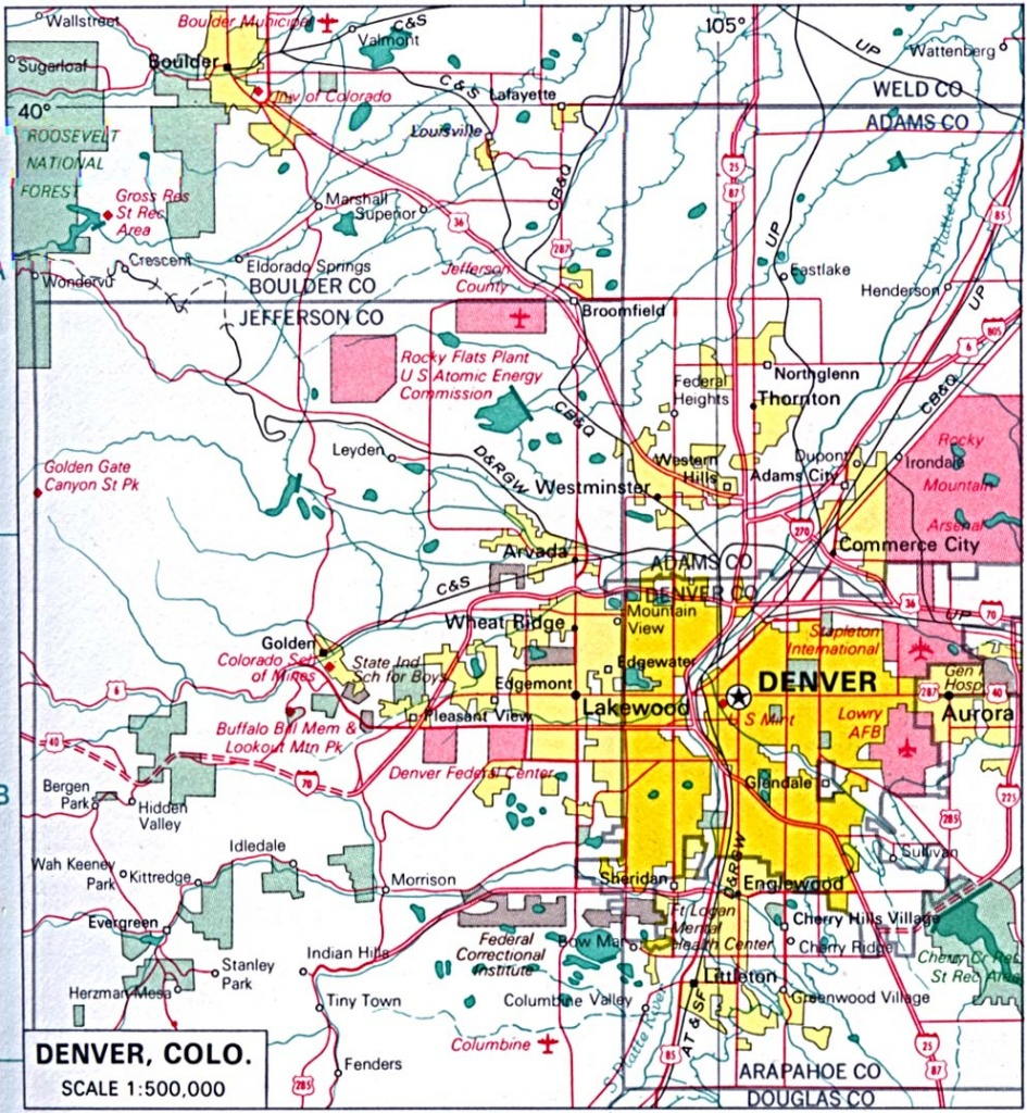Colorado Maps - Perry-Castañeda Map Collection - Ut Library Online - Denver City Map Printable